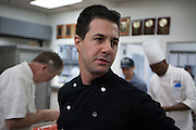 "Award-winning dessert chef Johnny Iuzzini oversees his kitchen staff. Iuzzini is the author of the book ""Dessert Fourplay."""