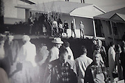 A photo dating back 50 years to Sun City's opening day, where people 55 and older lined up to purchase homes.