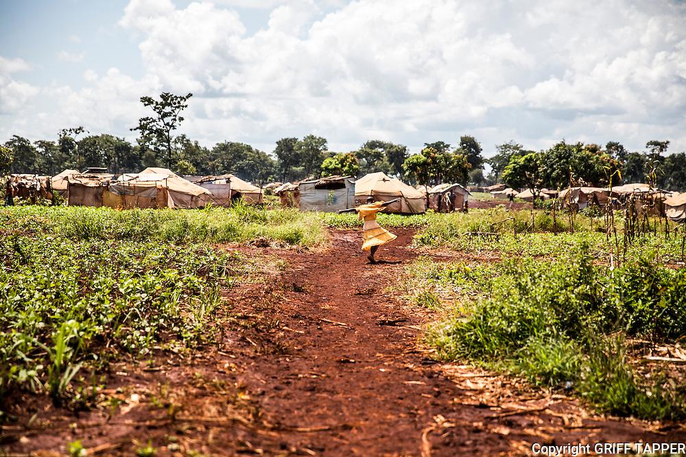 A child in the Nyarugusu refugee camp in Tanzania.