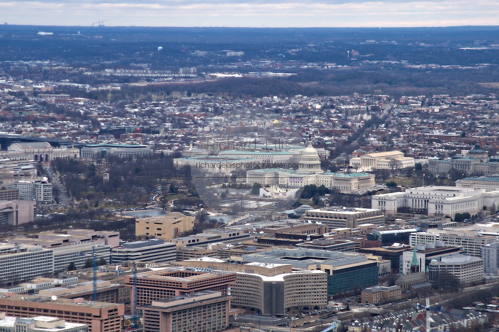 Aerial view of the U.S. Capitol in Washington, DC.