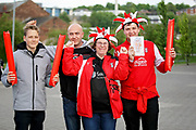 Rotherham fans arrive at the stadium before the EFL Sky Bet League 1 play off second leg match between Rotherham United and Scunthorpe United at the AESSEAL New York Stadium, Rotherham, England on 16 May 2018. Picture by Nigel Cole.