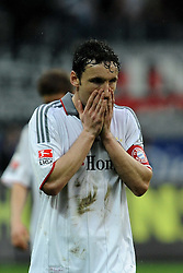 20.03.2010, Commerzbank Arena, Frankfurt, GER, 1. FBL, Eintracht Frankfurt vs Bayern Muenchen, im Bild nach dem Spiel Mark van Bommel (Bayern NL #17) EXPA Pictures © 2010, PhotoCredit: EXPA/ nph/  Roth / SPORTIDA PHOTO AGENCY
