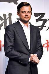 Leonardo DiCaprio nominated for best leading actor Oscar 2014.<br /> Actor Leonardo DiCaprio poses for photographers during the press conference for Django Unchained in Tokyo, Japan,  March 2, 2013. Photo by Imago / i-Images...UK ONLY