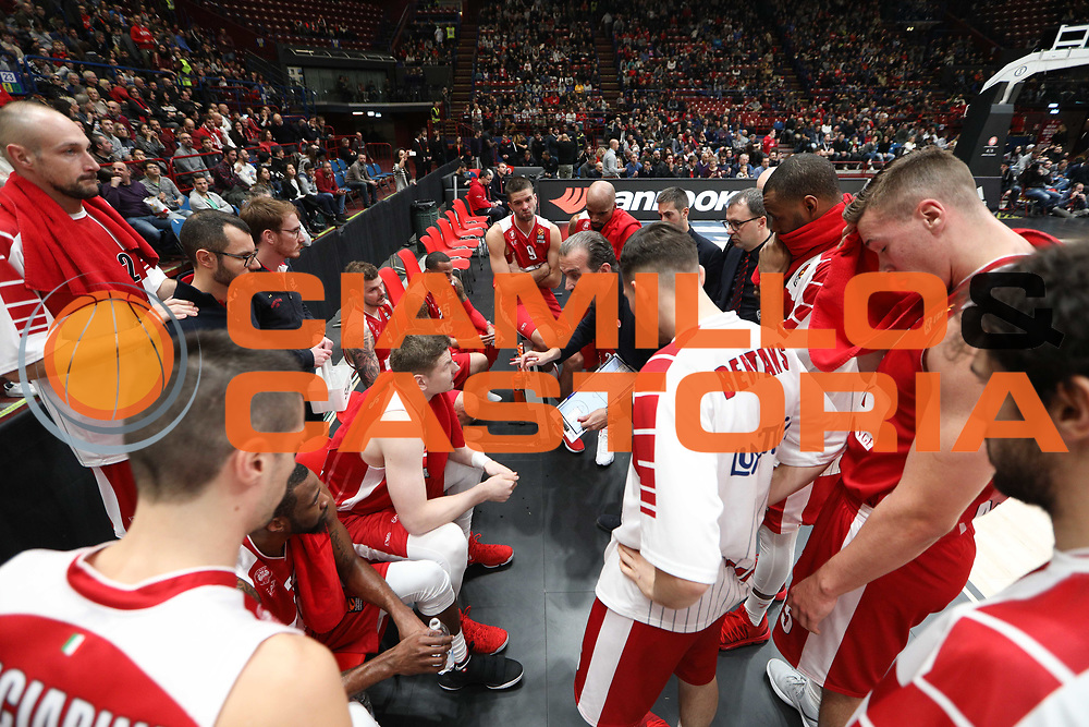 Time out Armani Milano, Ax Armani Exchange Olimpia Milano vs Khimki Moscow Region - EuroLeague 2017/2018, Milano Mediolanum Forum 7 dicembre 2017 - foto Bertani/Ciamillo-Castoria