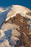 Summit dome of  Mount Baker (elevation 10,778 feet (3,285 m). Seen from Chowder Ridge, Mount Baker Wilderness Washington USA