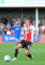 Kevin Dawson of Cheltenham Town in action- Mandatory by-line: Nizaam Jones/JMP - 02/09/2017 - FOOTBALL - LCI Rail Stadium - Cheltenham, England - Cheltenham Town v Stevenage- Sky Bet League Two