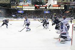 06.01.2015, Saturn Arena, Ingolstadt, GER, DEL, ERC Ingolstadt vs Iserlohn Roosters, 36. Runde, im Bild Jared Ross (Nr, ERC Ingolstadt) beim Torschuss // during Germans DEL Icehockey League 36th round match between ERC Ingolstadt and Iserlohn Roosters at the Saturn Arena in Ingolstadt, Germany on 2015/01/06. EXPA Pictures © 2015, PhotoCredit: EXPA/ Eibner-Pressefoto/ Strisch<br /> <br /> *****ATTENTION - OUT of GER*****