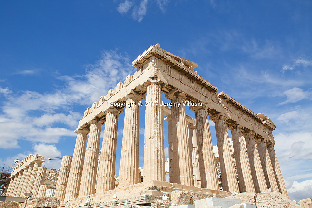 The most magnificent temple of the ancient world, the Parthenon, stands on the highest point of the Acropolis. Built between 447 - 338 BC, the temple venerated the cult of Athena Parthenos (Athena the Virgin), the Goddess of Wisdom and Warfare and the Guardian of Athens. <br />