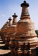 108 pagodas in Qingtongxia city, Ningxia, China