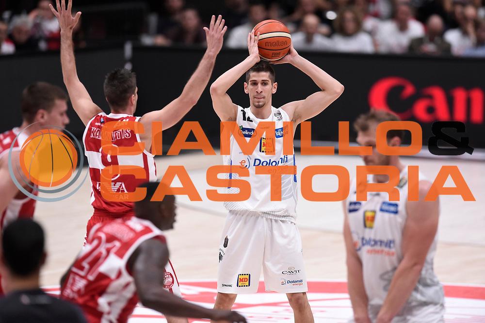 Diego Flaccadori<br /> EA7 Emporio Armani Olimpia Milano - Dolomiti Energia Aquila Basket Trento<br /> Lega Basket Serie A, Semifinali Playoff 2016/2017<br /> Milano, 25/05/2017<br /> Foto Ciamillo-Castoria