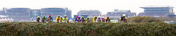 LIVERPOOL, ENGLAND - Friday, April 9, 2010: Horses head for Becher's Brook during the second day of the Grand National Festival at Aintree Racecourse. (Pic by David Rawcliffe/Propaganda)