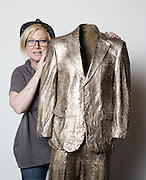 Sculptor Beth Cullen Kerridge  with &quot;Empty Suit 2008&quot; during the private view of Beth Cullen&rsquo;s exhibition &lsquo;Suits&rsquo; in Hoxton London on October 01, 2014.<br />  <br /> Beth &amp; Tom co own The Hand and Flowers, the restaurant they founded in Marlow in 2005, eventually became the first pub to be awarded two Michelin stars, and Kerridge&rsquo;s cookbook, Proper Pub Food, has sold more than 250,000 copies. His next volume, Best Ever Dishes, was released last month ahead of a BBC2 television series in October. The couple are about to open a second pub-restaurant.