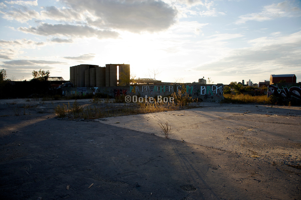 abandoned industrial complex America