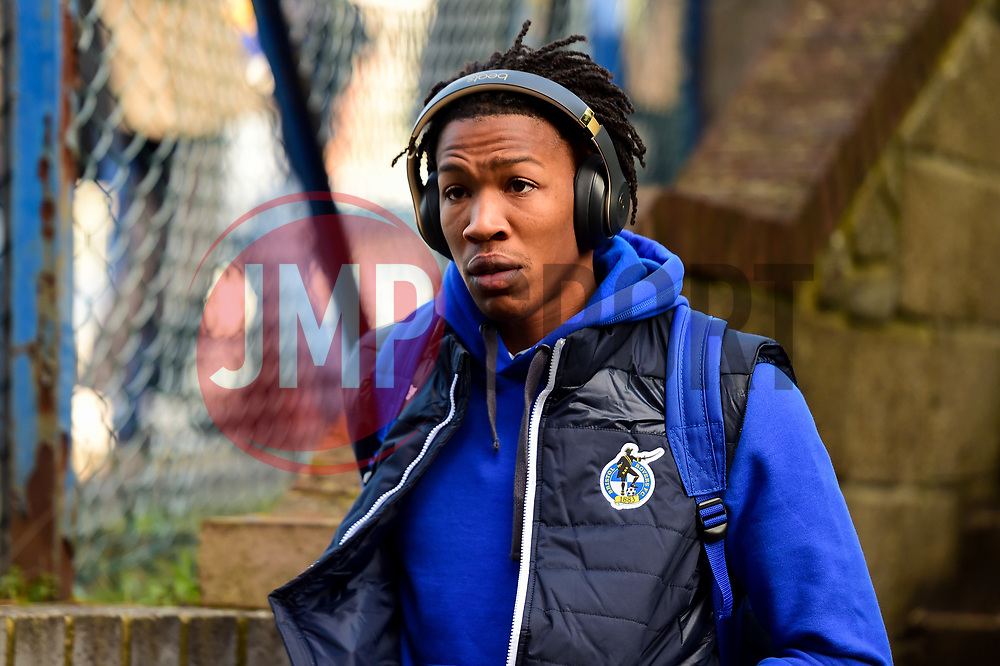 Gabriel Osho of Bristol Rovers arrives at Roots Hall prior to kick off - Mandatory by-line: Ryan Hiscott/JMP - 02/02/2019 - FOOTBALL - Roots Hall - Southend-on-Sea, England - Southend United v Bristol Rovers - Sky Bet League One