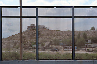 Border wall betwen El Paso and Cd. Juarez, Pisano Drive, El Paso, TX.