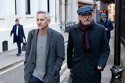 © Licensed to London News Pictures. 12/12/2018. London, UK. Former professional footballer and sports broadcaster Gary Lineker (left) seen walking past the Royal Courts of Justice. Photo credit : Tom Nicholson/LNP