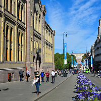 Karl Johans Gate in Oslo, Norway<br />