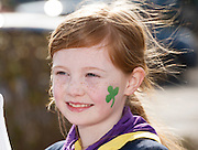17/03/12016 Alice Downes , Kinvara beavers  at the the St. Patrick's Day Parade in Kinvara Co. Galway. Photo:Andrew Downes, xposure.
