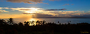 Sunset, Taveuni, Vanua Levu in Background, Fiji