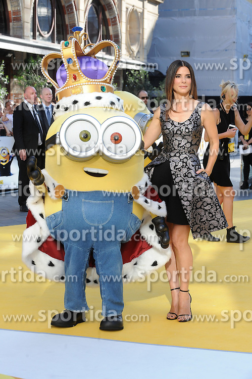Sandra Bullock attends the World Premiere of Minions at Odeon Leicester Square in London, 11th June 2015. EXPA Pictures &copy; 2015, PhotoCredit: EXPA/ Photoshot/ Paul Treadway<br /> <br /> *****ATTENTION - for AUT, SLO, CRO, SRB, BIH, MAZ only*****