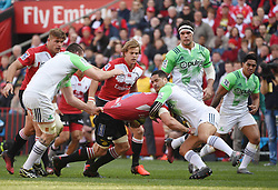 during the semi final of the Vodacom Super Rugby 2016 season between the Lions and the Highlanders held at the Emirates Airline Park in Johannesburg, South Africa on the 30th July 2016Photo by Real Time Images