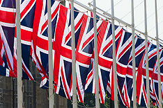2017-06-20 Stock Images: Union Jack flags in Parliament Square