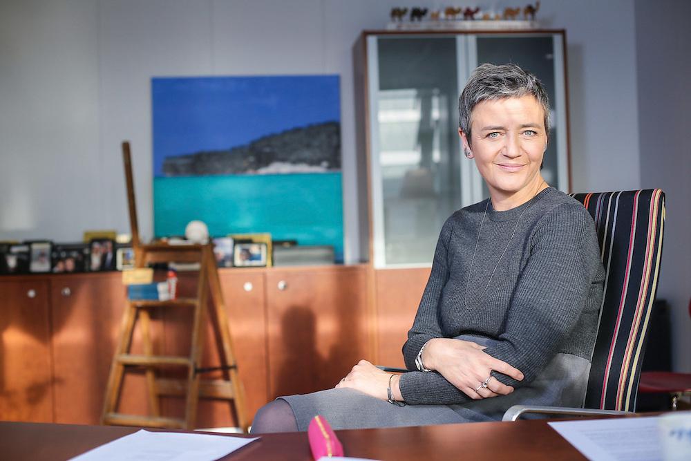 Bruselas. 09/12/14. Entrevista y retrato de la Comisaria Europea de Competencia, Margrethe Vestager, para Expansión. Photo: Pablo Garrigos