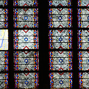 Our Lady makes a cool cameo in the stained glass window at the Notre Dame de Paris