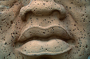 MEXICO, OLMEC and GULF COAST CULTURES Jalapa (Xalapa; Anthropology Museum Giant stone Olmec head, mouth detail, 1200-400BC