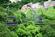 A station of the Wings of Tatev - the world's longest non-stop double track aerial tramway at Halidzor, Armenia