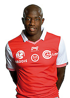 Hassane Kamara of Reims during the photocall of Reims for new season of Ligue 2 on September 29th 2016 in Reims<br /> Photo : Stade de Reims / Icon Sport
