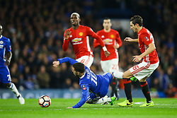 Eden Hazard of Chelsea is taken down by Michael Carrick of Manchester United - Mandatory by-line: Jason Brown/JMP - 13/03/2017 - FOOTBALL - Stamford Bridge - London, England - Chelsea v Manchester United - Emirates FA Cup Quarter Final