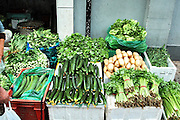 China, Vegetable stall in a Street Market