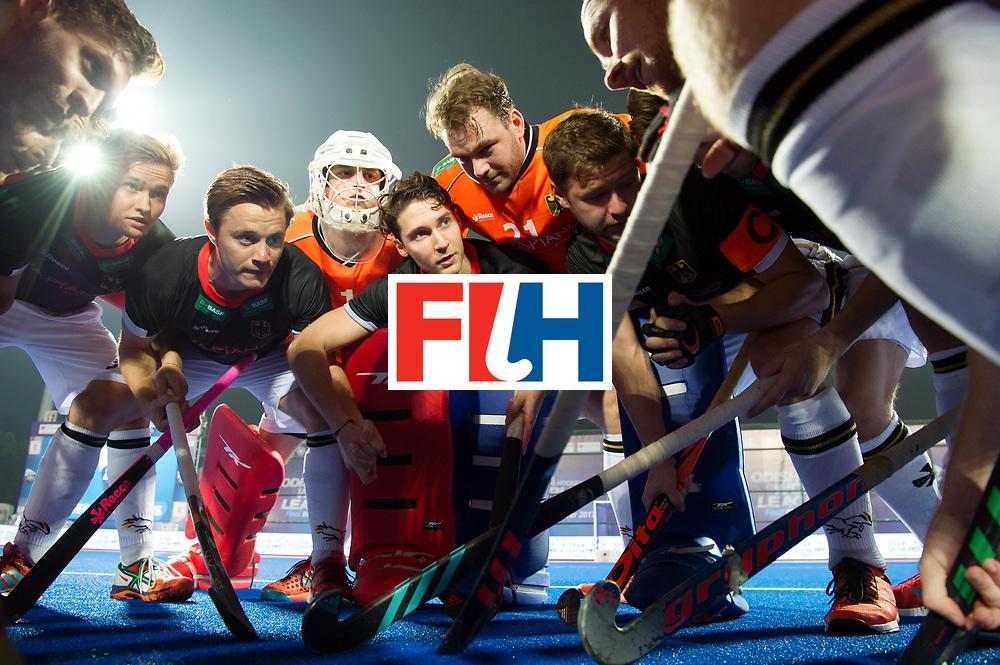 Odisha Men's Hockey World League Final Bhubaneswar 2017<br /> Match id:05<br /> 05 GER v AUS (Pool B)<br /> Foto: German huddle.<br /> WORLDSPORTPICS COPYRIGHT FRANK UIJLENBROEK