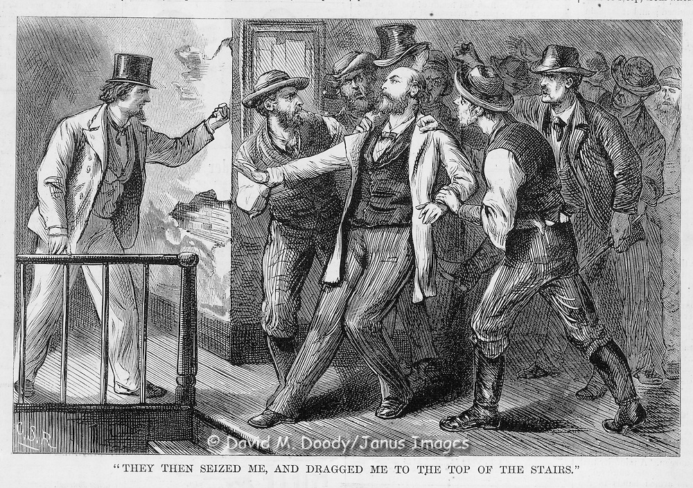 Vintage Illustration:  Harper's Weekly  1872 KKK  murders of blacks and whites that supported them.
