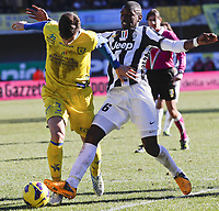 Marco Andreolli Chievo, Paul Pogba Juventus. 3/2/2013 <br /> 2012/2013 Serie A.Chievo Vs Juventus<br /> Norway only