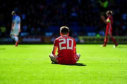 Daniel James of Wales sits on the floor - Mandatory by-line: Ryan Hiscott/JMP - 24/03/2019 - FOOTBALL - Cardiff City Stadium - Cardiff, United Kingdom - Wales v Slovakia - UEFA EURO 2020 Qualifier