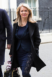 © Licensed to London News Pictures. 10/03/2015. London, UK. Esther McVey leaves a cabinet meeting at 10 Downing Street in London on Tuesday 10th March 2015. Photo credit : Vickie Flores/LNP