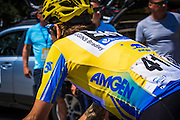 Professional cyclist Bradley Wiggins  at the Amgen Tour of California, Santa Monica Mountains, California USA