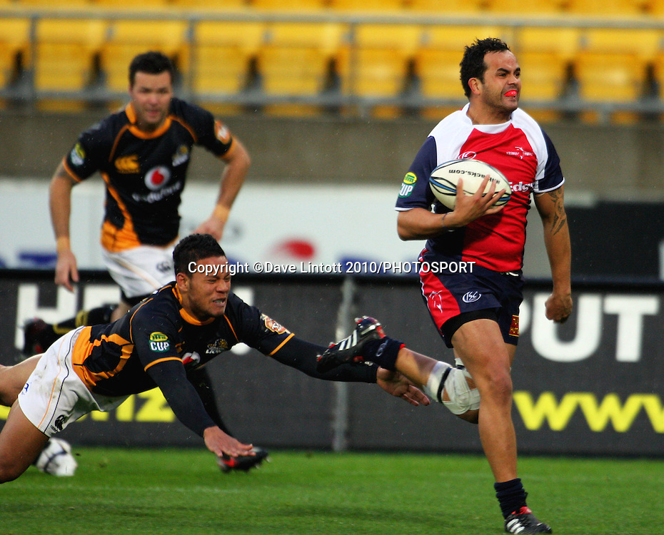Southland's Robbie Malneek scores the first try. ITM Cup rugby - Wellington Lions v Tasman Makos at Westpac Stadium, Wellington, New Zealand on Sunday, 1 August 2010. Photo: Dave Lintott/PHOTOSPORT