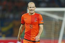 13-06-2012 VOETBAL: UEFA EURO 2012 DAY 6: POLEN OEKRAINE<br /> Arjen Robben during the UEFA EURO 2012 group B match between Netherlands en Germany at Metalist Stadium, Charkov, UKR<br /> ***NETHERLANDS ONLY***<br /> ©2012-FotoHoogendoorn.nl