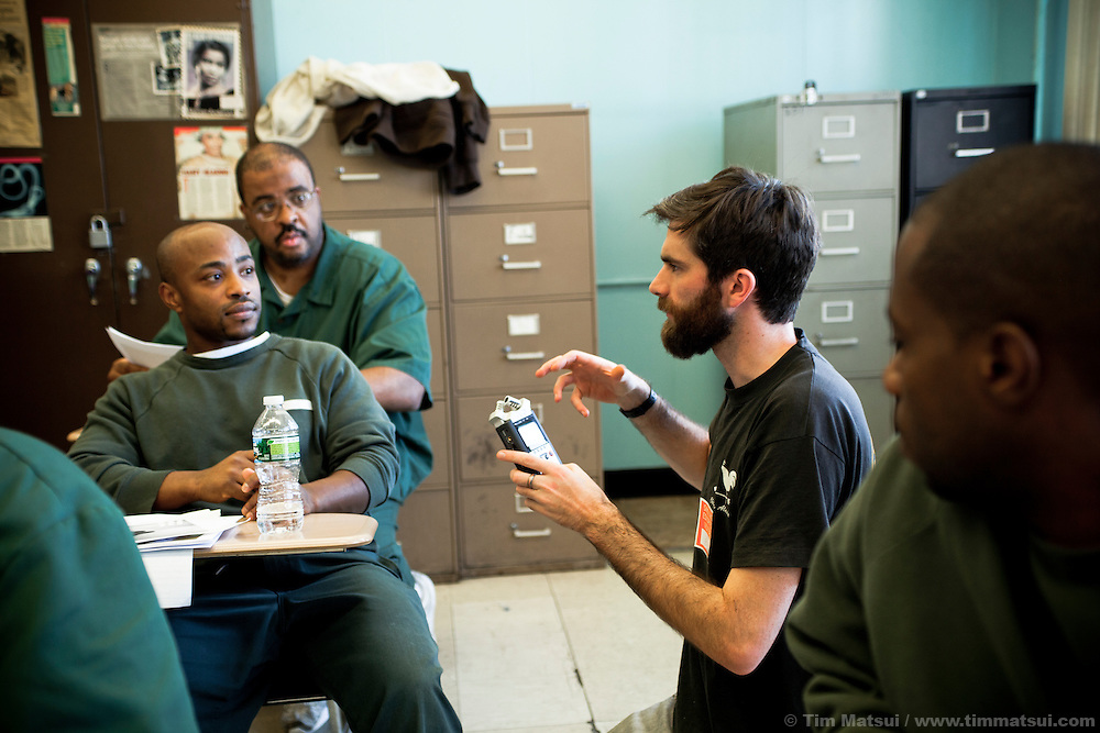 Prison photography workshop by Pete Brook in Sing Sing prison , Ossining, NY
