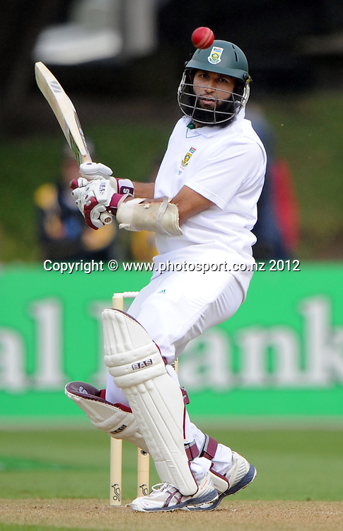 South Africa's Hashim Amla. Test match cricket. Third Test, Day 1. New Zealand Black Caps versus South Africa Proteas, Basin Reserve, Wellington, New Zealand. Friday 23 March 2012. Photo: Andrew Cornaga/Photosport.co.nz