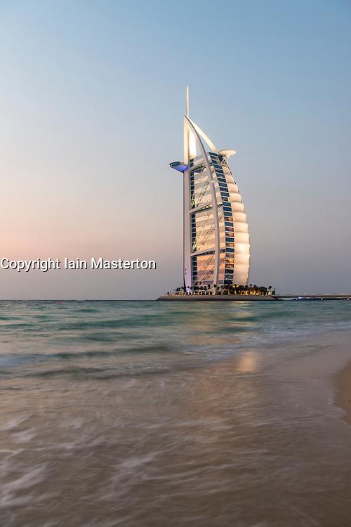 Luxury Burj al Arab Hotel in Dubai United Arab Emirates