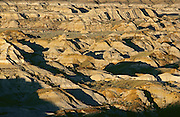 Badlands in morning light<br /> Dinosaur Provincial Park<br /> Alberta<br /> Canada