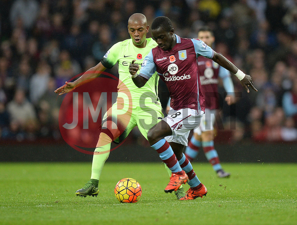Idrissa Gueye of Aston Villa - Mandatory byline: Alex James/JMP - 07966 386802 - 08/11/2015 - FOOTBALL - Villa Park - Birmingham, England - Aston Villa v Manchester City - Barclays Premier League