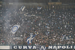 October 21, 2017 - Napoli, Napoli, Italy - Naples - Italy 21/10/2017.SUPPORTERS of  S.S.C. NAPOLI   and  of  Inter  fights for the ball during Serie A  match between S.S.C. NAPOLI and Inter  at Stadio San Paolo of Naples. (Credit Image: © Emanuele Sessa/Pacific Press via ZUMA Wire)