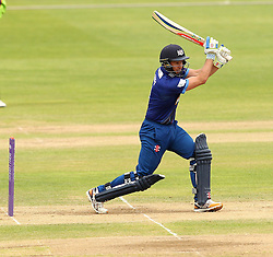 Gloucestershire's Geraint Jones tries to hit through the covers - Mandatory by-line: Robbie Stephenson/JMP - 07966386802 - 04/08/2015 - SPORT - CRICKET - Bristol,England - County Ground - Gloucestershire v Durham - Royal London One-Day Cup