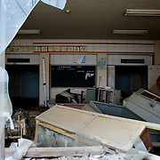 May 27, 2013 - Ishinomaki, Japan: Debris left behind by the devastating tsunami, that hit the east coast of Japan in 2011, can be seen inside a destroyed classroom of Ishinomaki Okawa Elementary School. The school, which lost 70 of 108 students and nine of 13 teachers and staff, was one of the worst affected by the Tohoku earthquake. (Paulo Nunes dos Santos)