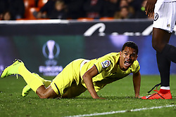 January 26, 2019 - Valencia, Spain - Carlos Bacca of Villarreal CF during  spanish La Liga match between Valencia CF vs Villarreal CF at Mestalla Stadium on Jaunary  26, 2019. (Credit Image: © Jose Miguel Fernandez/NurPhoto via ZUMA Press)